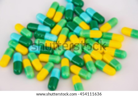blurry antibiotics medicine background/blurry capsule  - stock photo