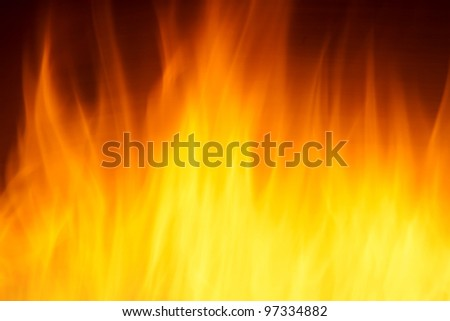 blurry blazing fire as time lapse - stock photo