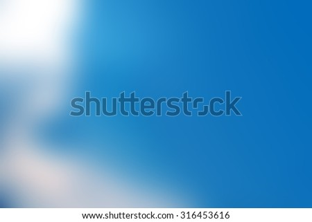 blurry defocus clouds in blue sky for background - stock photo