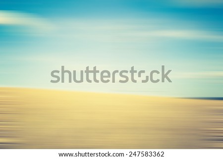 blurry field abstraction - stock photo