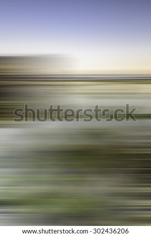 Blurry image of seascape for background for graphic design - stock photo