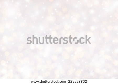blurry lights and sparkle glitter bokeh background - stock photo