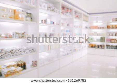 Merveilleux Blurry Medicine Cabinet And Store Medicine And Pharmacy Drugstore For  Background
