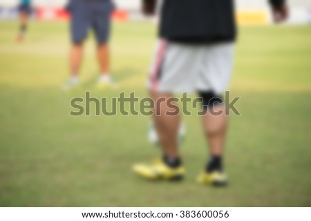 blurry,motion blur,Players in action playing football,Passing (soccer) - stock photo