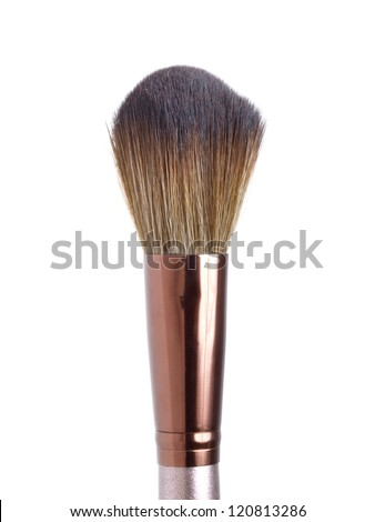 Blush brush for make-up  isolated on white