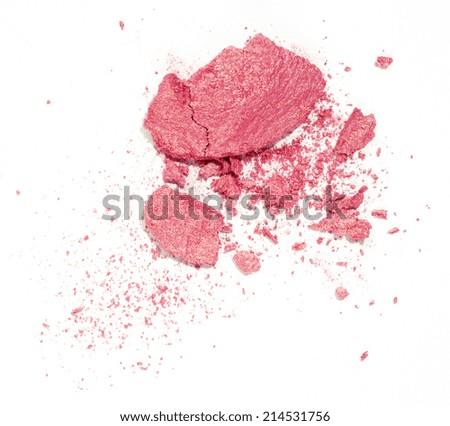 Blush isolated over white - stock photo