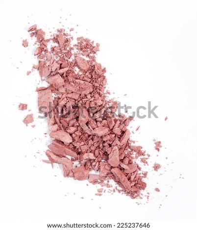 Blush isolated over white background - stock photo
