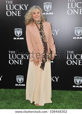 "Blythe Danner at the world premiere of her new movie ""The Lucky One"" at Grauman's Chinese Theatre, Hollywood. April 16, 2012  Los Angeles, CA Picture: Paul Smith / Featureflash"