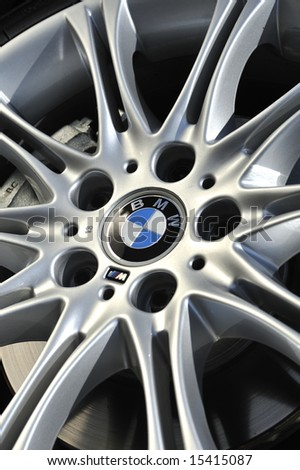 BMW Alloy Wheel Detail - stock photo