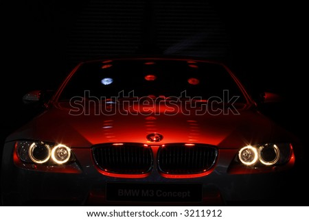 BMW Concept Car in Red Lighting. - stock photo