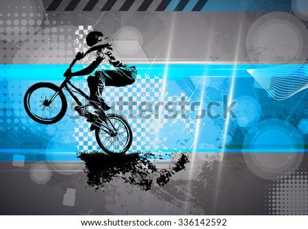 BMX biker - stock photo
