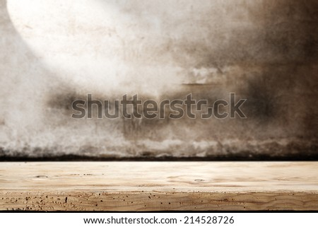board and wall  - stock photo