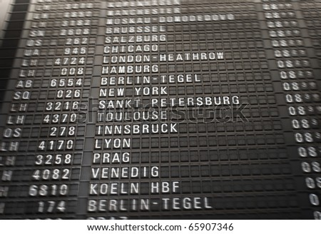 Board at airport - stock photo