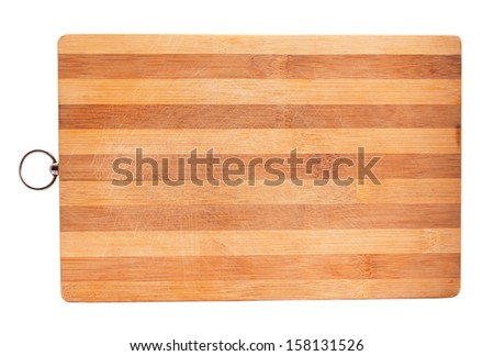 board for cutting bread, on a white background - stock photo
