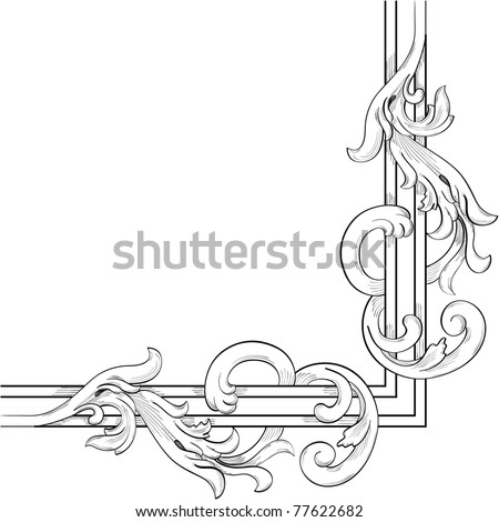 Board fragment. Vector illustration - stock photo