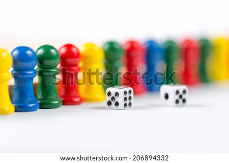 Board game Ludo - stock photo