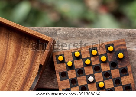 board game was made by wood - stock photo