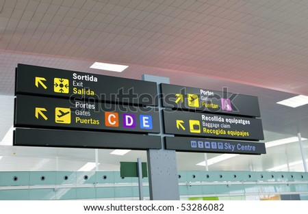 Board-index at the airport - stock photo