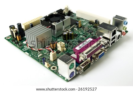 Three Computer Hardware Components Internal Modem Stock