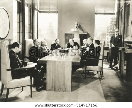 Board meeting - stock photo