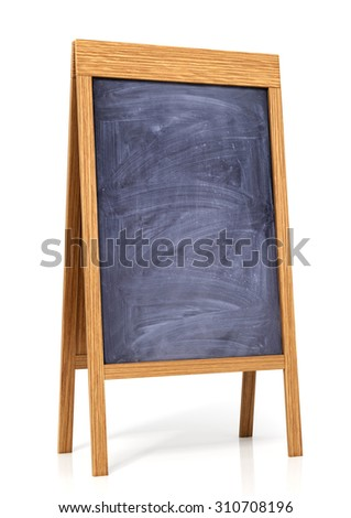 Board menu or  study blackboard on a white background
