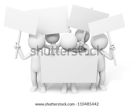 Board/Several people are holding boards - stock photo