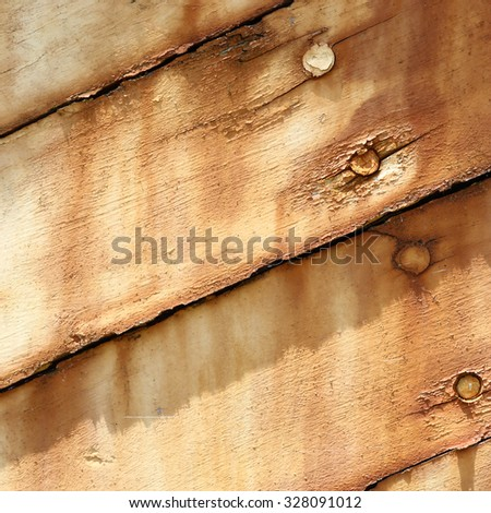 Boards of old boat background texture - stock photo