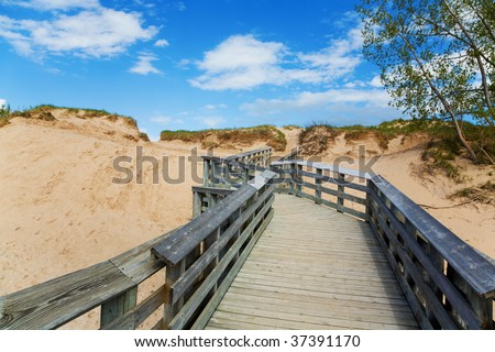 Boardwalk - stock photo
