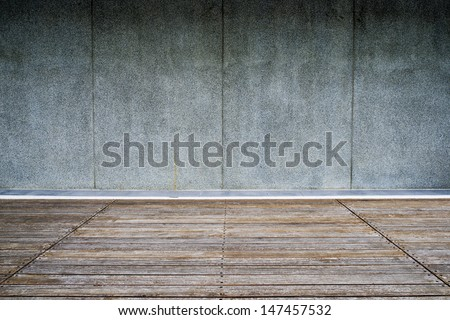 Boardwalk and walls