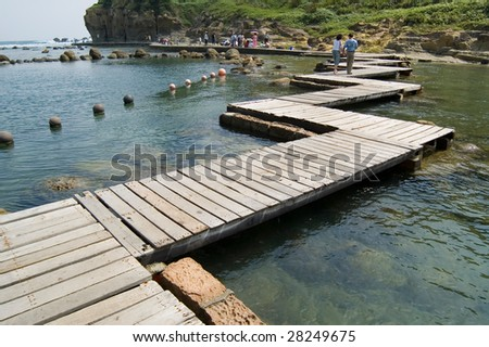 boardwalk in the seashore