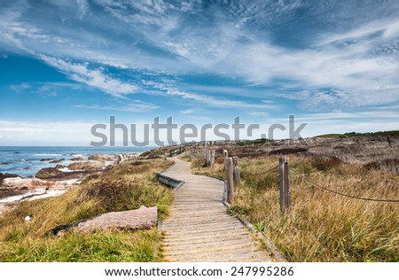 Boardwalk, Pacific Grove, California - stock photo