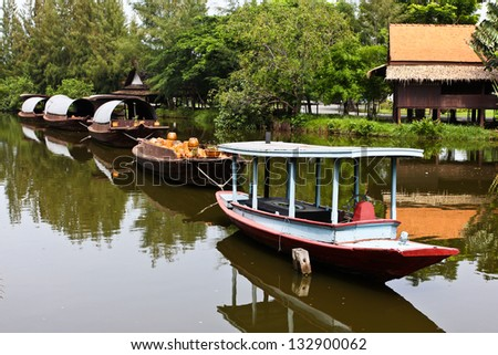 Boat ancient Thailand.