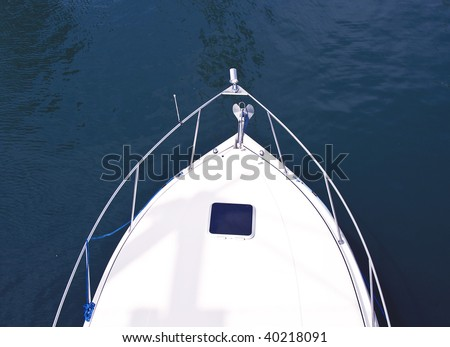 Boat bow - detail - stock photo