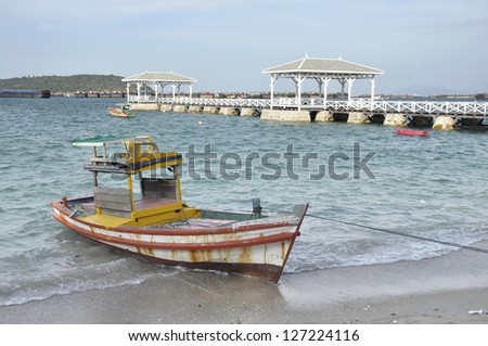 Boat Day Outdoor Local Sea Wood - stock photo