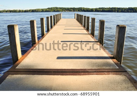 boat dock - stock photo