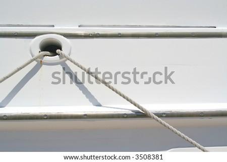 Boat Hull Close-up. - stock photo