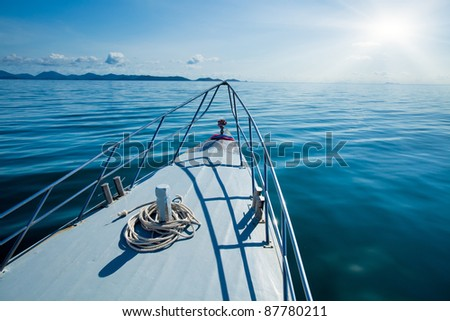 Boat in the sea - stock photo