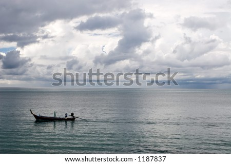 Boat moving to sea 3