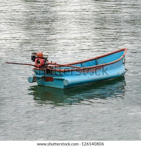 Boat of fisherman - stock photo