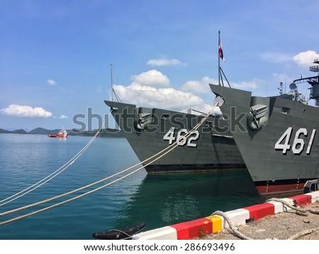 boat on the bay in  Harbor - stock photo