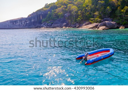 Boat on the beach,Similan Islands,Thailand.