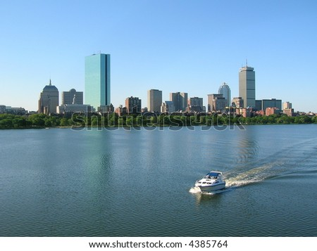 Boat on the Charles River, Boston.