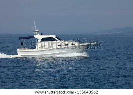 Boat on the sea - stock photo