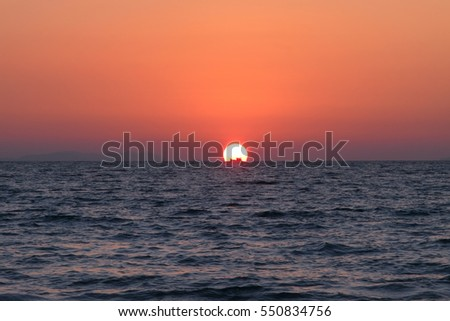 Boat on the sea at sunset in the Tropical sea
