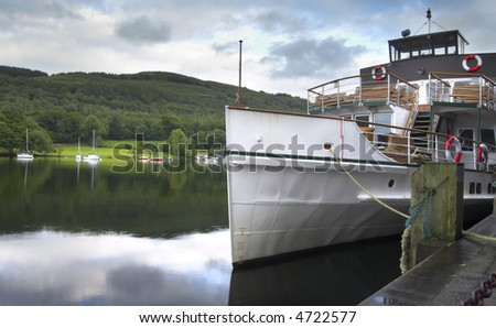 Boat on Windermere, Lake District UK - stock photo