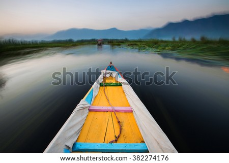 Boat ride in a lake