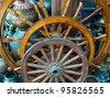 Boat steering wheels in dubai street shop - stock photo