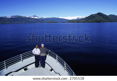 Boat tourist at the bay. - stock photo