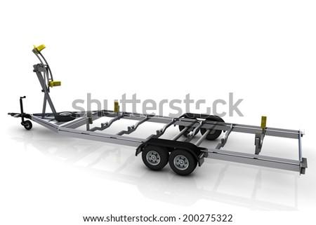 Boat trailer - stock photo