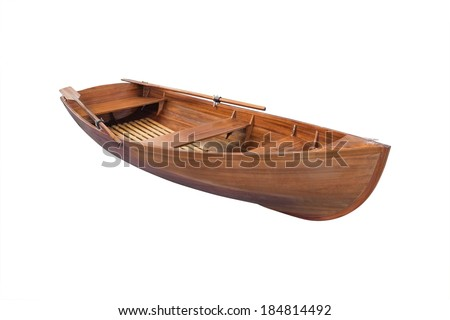 boat under the white background - stock photo